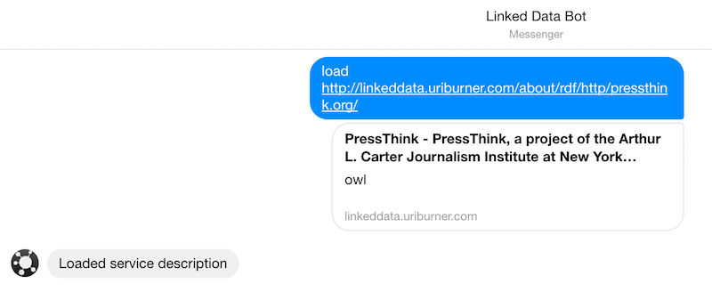 Messenger interaction with OSDB CLI